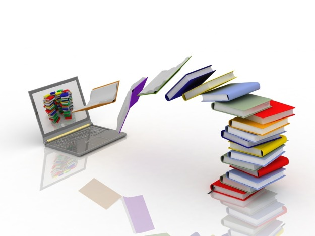 bigstock-books-fly-into-your-laptop-17221322